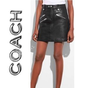 Coach Leather Skirt Size 8 NWT